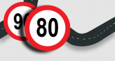 80 km/h speed limit